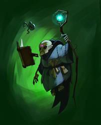 Reddit Gnome Lich Painted by the-art-of-B