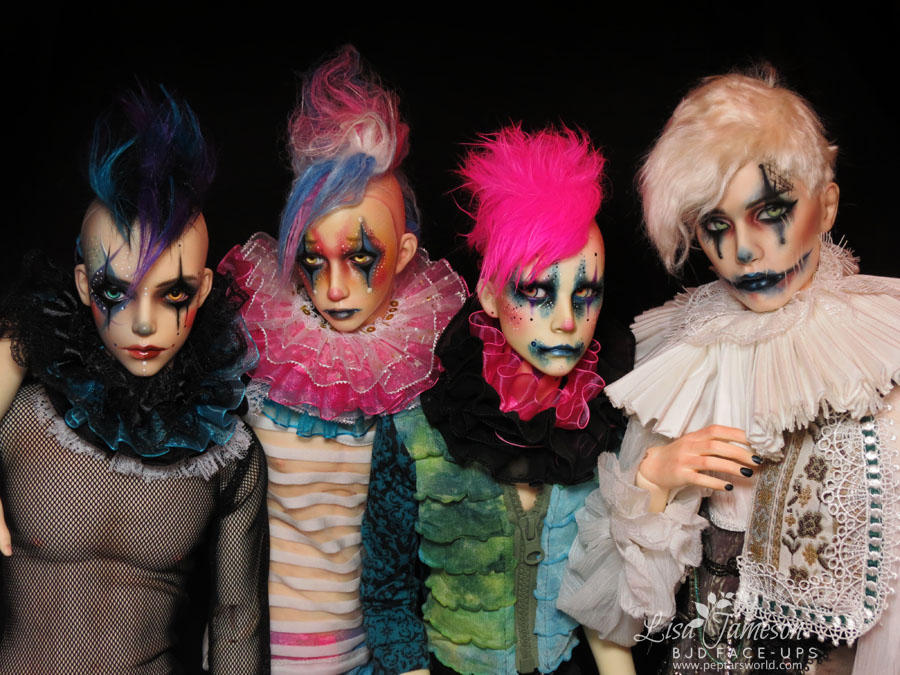 BJD Clown Posse by Pepstar by PepstarsWorld