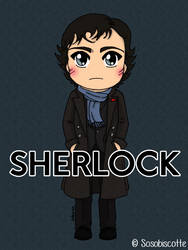 Chibi Sherlock by Sosobiscotte