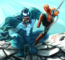 Spiderman vs Venom!!! by sempernow
