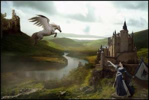 'The Lady versus Pegasus' by cocacolagirlie