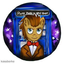 Doctor Whooves badge by KassBerke