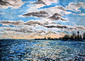 Lake Erie Clouds by cirruscastle
