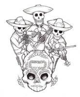 Mariachi Dia de Muertos by Dr-SUR