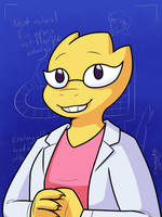 Alphys by InsanelyADD