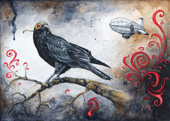 Dirigible Crow by bcduncan
