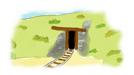 Wejscie do Kopalni / Mine Entrance by LisekLucek