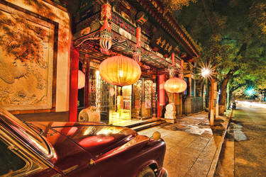 Beijing - nightstreets by Beschty