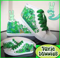 Toxic Bunny Chucks by KitschyDuck