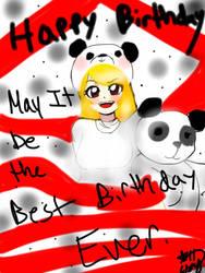 Panda gift by Esmy-cinnamonroll