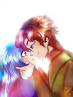 Maybe a kiss? by Esmy-cinnamonroll