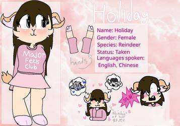 Holiday the Reindeer (ref) by strawberry-bunniez