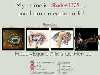 Eal   Equine Artist Template by Shadow1305