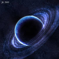 Blue planet with rings by earzy88