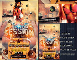 HIP HOP SESSION psd flyer by ultimateboss