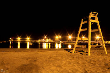 Life Guards Chair by Night by EaGlELFC