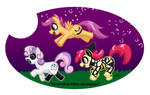 Cutie Mark Crusaders Black Paint Costumes, Yay! by TexasUberAlles