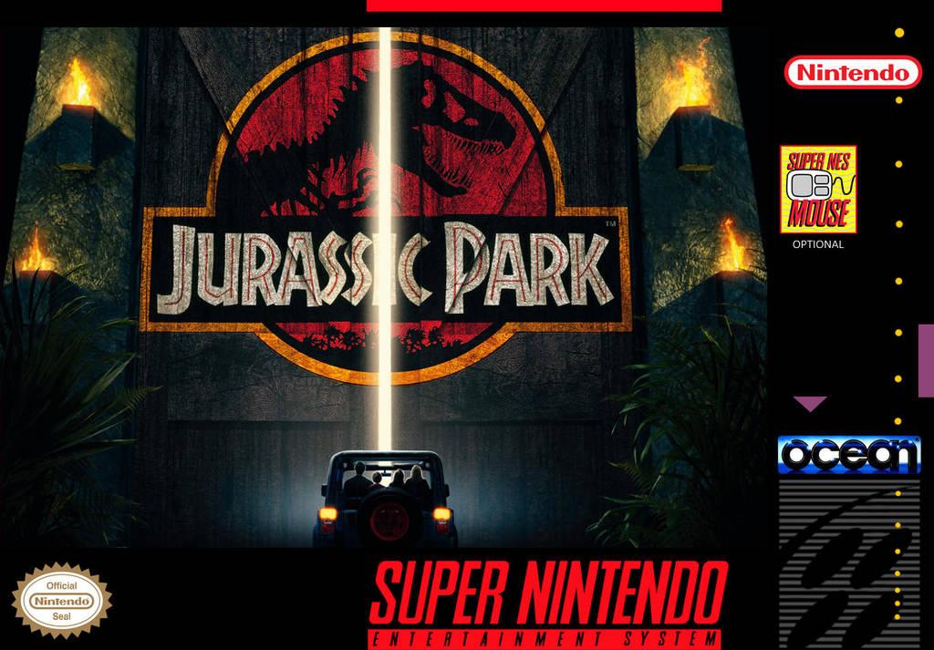Jurassic Park - Custom SNES Box Art by shonasof