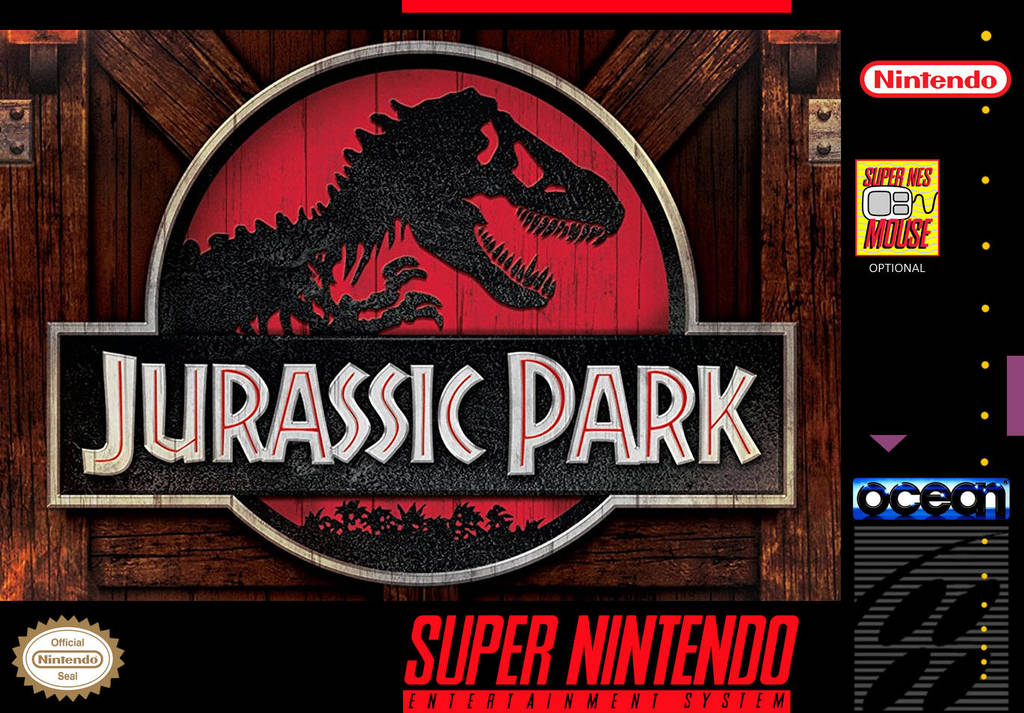 Jurassic Park (Alternate) - Custom SNES Box Cover by shonasof