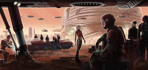 Mars Spaceport by JonHrubesch