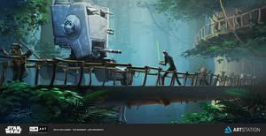 Luke vs Walker by JonHrubesch