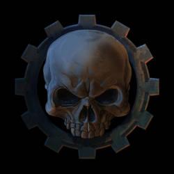Skull Gear Logo by JonHrubesch