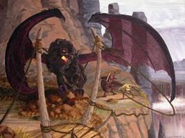 Pangea Gorgonon Dragon by JonHrubesch