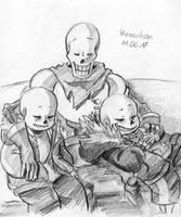 Sleeping siblings by paurachan