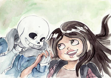 [com] Sans and Ellie by paurachan