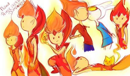 Flame Prince Sketch Dump by Vanilla-Fireflies