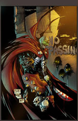 Spawn - 129 colored cover by sludger