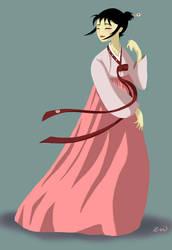 Bubblegum Hanbok by Plushpenguin