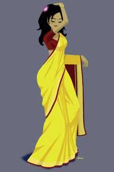 Sunflower Sari by Plushpenguin