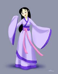 Lavender Hanfu by Plushpenguin