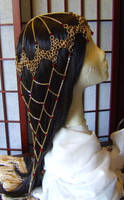 Red Gold Chainmail Fishnet Headdress (2013) by adrianwelchart