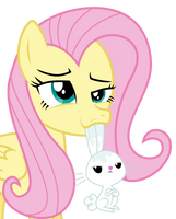 Fluttershy Loves Animals by masemj