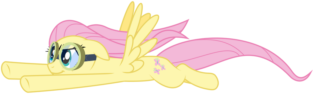 Confident Fluttershy Flying by masemj