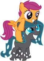 Request: Shift And Scootaloo by masemj