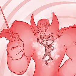 Red Lantern Cat by professor-ponyarity