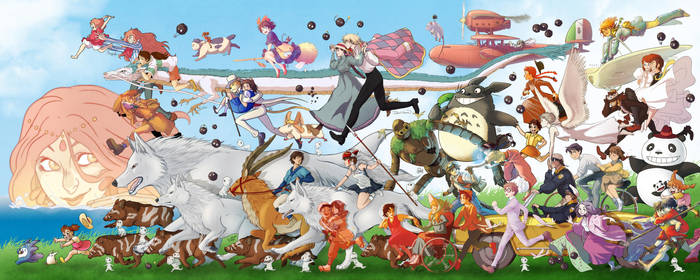 Ghibli parade! by Level-UP-Project