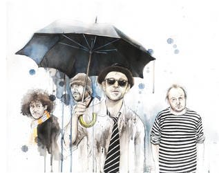 BILLY's BAND UMBRELLA by lora-zombie
