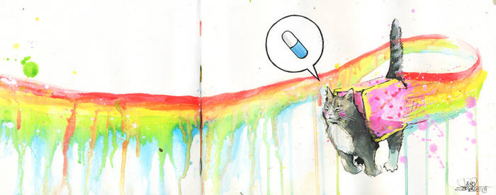 NYAN CAT by lora-zombie