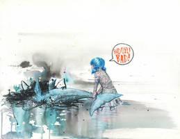 OIL EATS DOLPHIN by lora-zombie