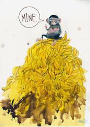 Greedy Monkey! by lora-zombie