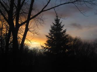 November sunset by Aodhagain