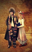 Doctor and Romana by nokeek