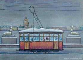 Winter Tram by nokeek