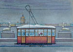 Winter Tram by nokeek