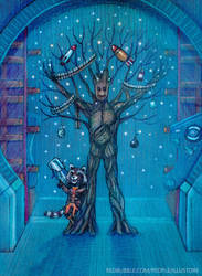 Guardians of the Galaxy Christmas by nokeek