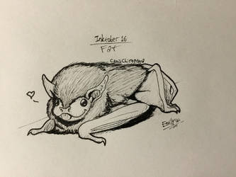 Inktober 16: Fat by CanisChiroptera